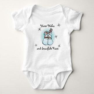 Winter Wishes Snowman Shirt Design