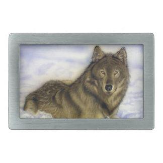 Winter Wolf Belt Buckle