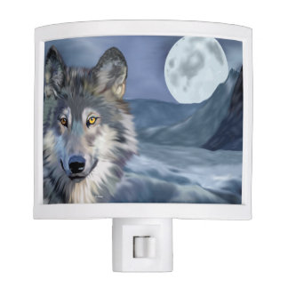 Winter Wolf Full Moon Night Lite