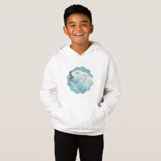 Winter Wolf Kid's Fleece Pullover Hoodie