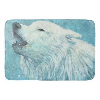 Winter Wolf Large Bath Mat