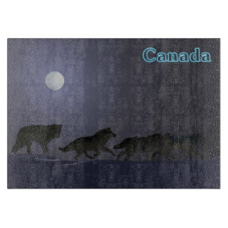Winter Wolfpack - Canada Cutting Board