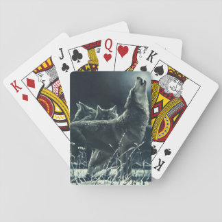 Winter Wolves Playing Cards