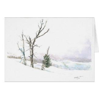 Winter wonder land card