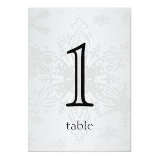 "Winter Wonderland Anniversary Table Number 5"" X 7"" Invitation Card"