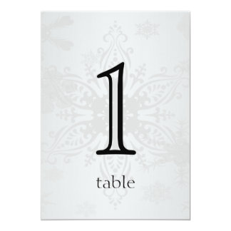 Winter Wonderland Anniversary Table Number Card