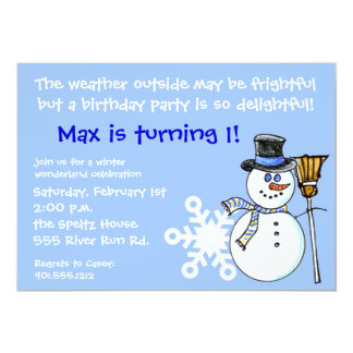Winter Wonderland Birthday Invitation