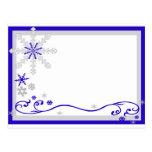 Winter Wonderland Blue Silver Snowflakes Post Card