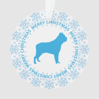 Winter Wonderland Blue & White Snowflake Dog Breed