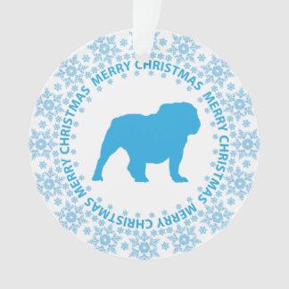 Winter Wonderland Blue & White Snowflake Dog Breed Ornament