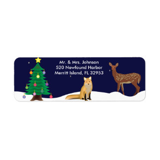 Winter Wonderland Christmas Address Lables