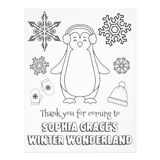 Winter Wonderland Coloring Page | Coloring Sheet