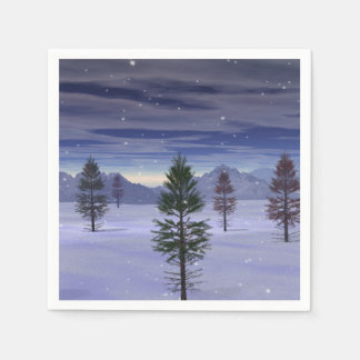 Winter Wonderland Disposable Napkins