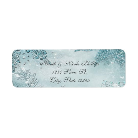 Winter Wonderland Elegant Magical Snowflakes Return Address Label