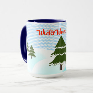 Winter Wonderland Evergreen Trees Mug