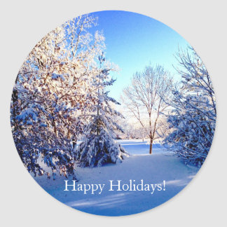Winter Wonderland Happy Holiday Stickers