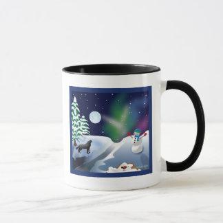 Winter wonderland holiday coffee mug