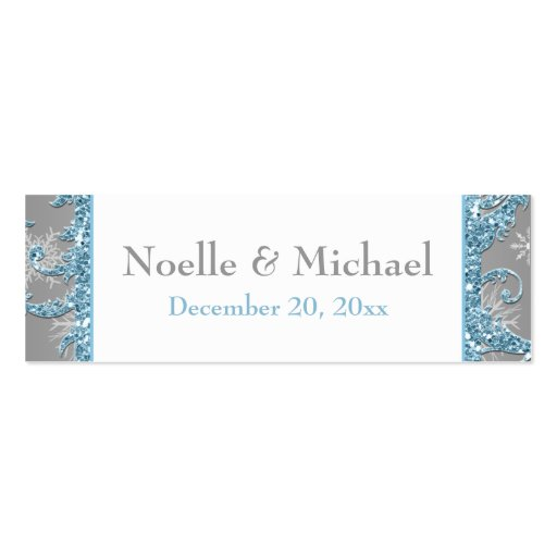 Winter Wonderland, Joined Hearts Favor Tag 2 Business Card