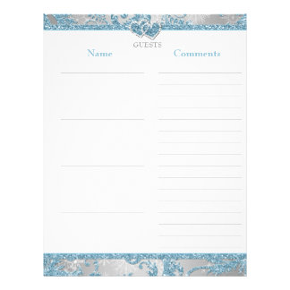 Winter Wonderland Joined Hearts Guest Book Paper Personalized Letterhead