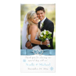 Winter Wonderland Joined Hearts Wedding Photo Card