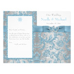 Winter Wonderland, Joined Hearts Wedding Program Personalized Flyer