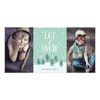 Winter Wonderland Let It Snow | Holiday 2-Photo Card