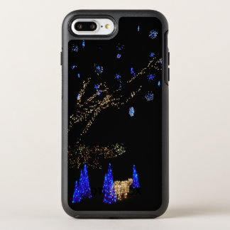 Winter Wonderland Lights Blue and White Holiday OtterBox Symmetry iPhone 8 Plus/7 Plus Case