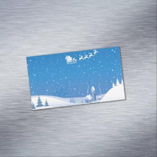 Winter Wonderland Magnetic Business Cards