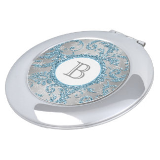 Winter Wonderland Monogrammed Compact Compact Mirrors