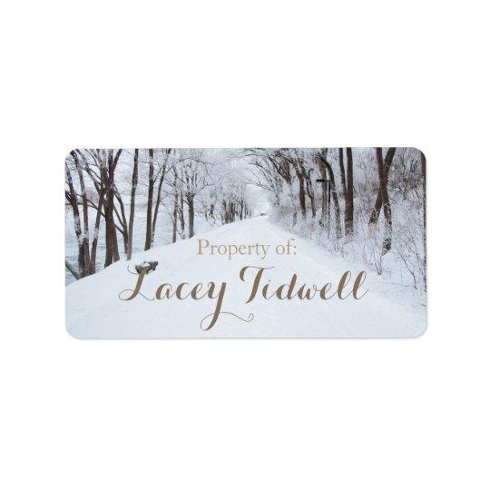 Winter Wonderland Name Labels