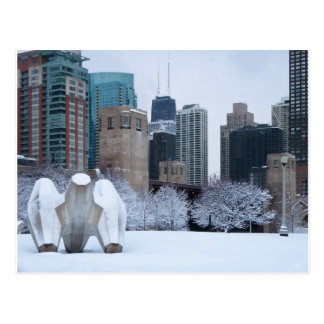 Winter Wonderland on the Chicago River Post Card