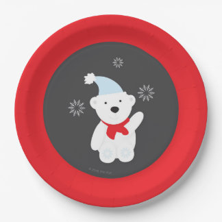 Winter Wonderland Paper Plate 9 Inch Paper Plate