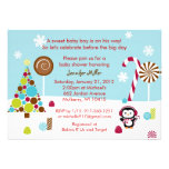 Winter Wonderland Penguin Baby Shower Invitations