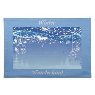 winter wonderland picture placemats