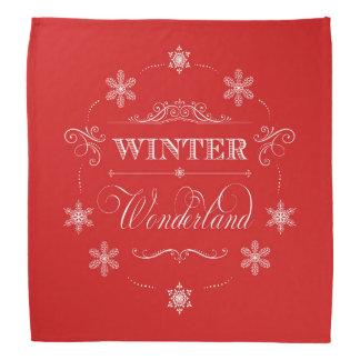 Winter Wonderland Red and White Christmas Snow Kerchiefs