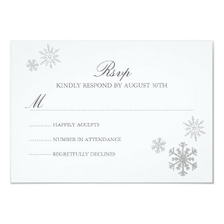 Winter Wonderland RSVP Card