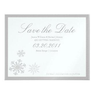 "Winter Wonderland Save the Date 4.25"" X 5.5"" Invitation Card"
