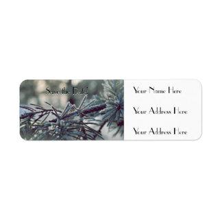 Winter Wonderland Save the Date Return Address Label