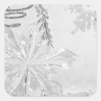 """Winter Wonderland"" series v Square Sticker"