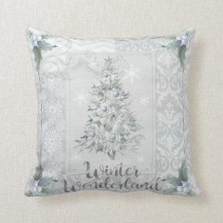 Winter Wonderland Silver  Christmas Pillow Decor