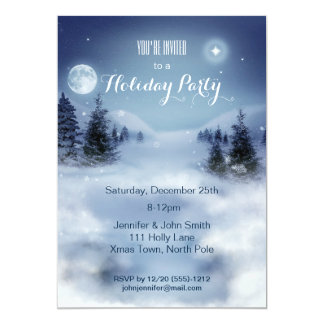 Winter Wonderland Snow Christmas Holiday Party Card