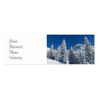 Winter Wonderland Snow Covered Trees Mountains Mini Business Card