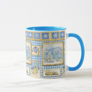 Winter Wonderland Snow Fun Country Coffee Cup