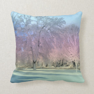[Winter Wonderland] Snow Ice Trees Throw Pillow