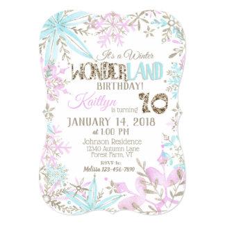 Winter Wonderland Snowflake Birthday Card