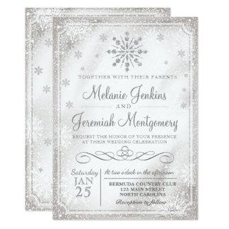 Winter Wonderland Snowflake Wedding Invitations
