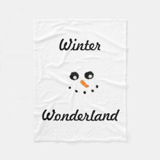 Winter wonderland Snowman blanket