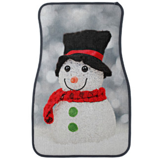 Winter Wonderland Snowman Car Mat