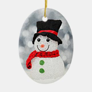 Winter Wonderland Snowman Ceramic Ornament