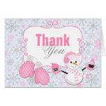 Winter Wonderland Snowman Mittens Thank You